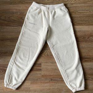 PANGAIA heavyweight track pants sand